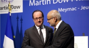 Francois Hollande Inaugurates Martin Dow Plant in France