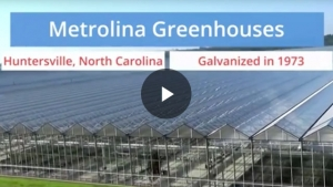 Metrolina Greenhouses Galvanized Steel Study