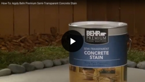How-To: Apply Behr Premium Semi-Transparent Concrete Stain