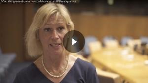 SCA Talks Menstruation at United Nations