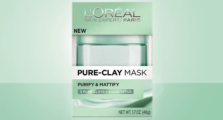 Diamond Packaging produced the folding cartons for the L'Oréal Paris Pure-Clay Mask Collection; they were manufactured using 100% clean, renewable wind energy and produced in Diamond's Zero Manufacturing Waste to Landfill (ZMWL) facility.