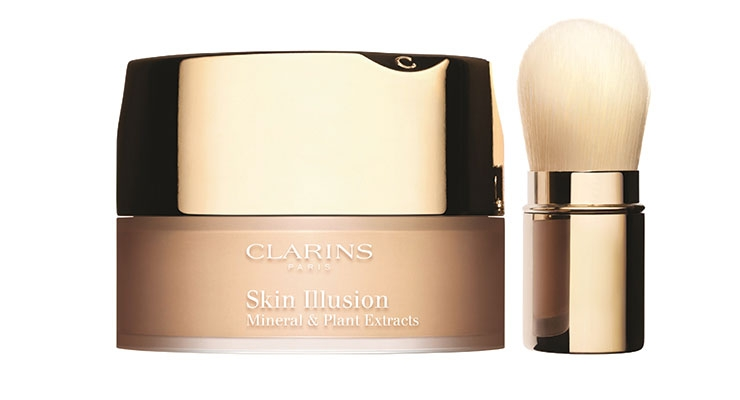 Clarins' loose powder foundation by Cosmogen