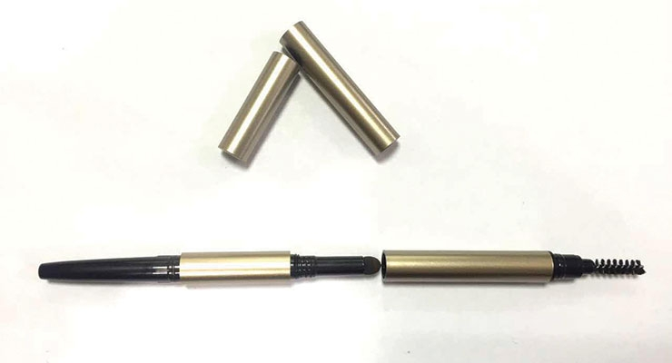 A 3-in-1 eyebrow pen from Ningbo Jieli Cosmetical Package Company
