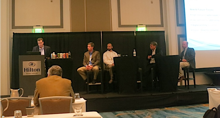 A conference panel was dedicated solely to shrink sleeve recycling.