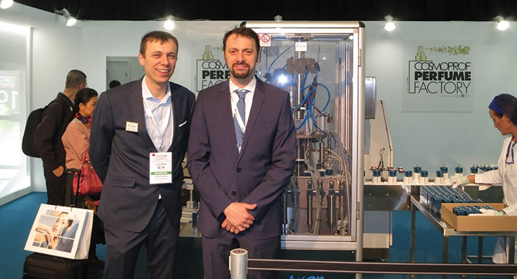 Paolo (L) and Luca Pagetti, of Coven Egidio, provided  several machines used in The Perfume Factory project.