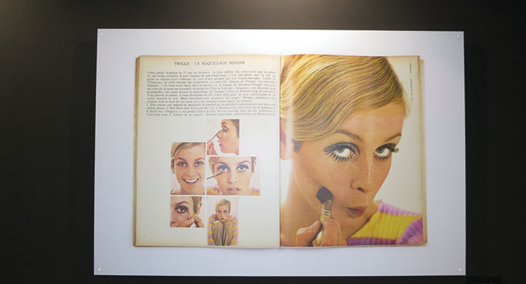 A special passageway featured 50 years of beauty,  with icons such as Twiggy (top) and Brigitte Bardot.