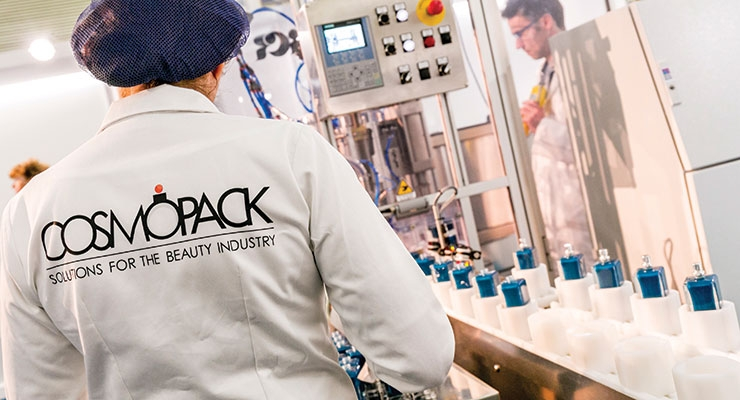 "To celebrate the event's golden anniversary, the Cosmoprof Perfume  Factory was ""powered by Cosmopack"" for a journey that led visitors  to discover the creation of a fragrance."