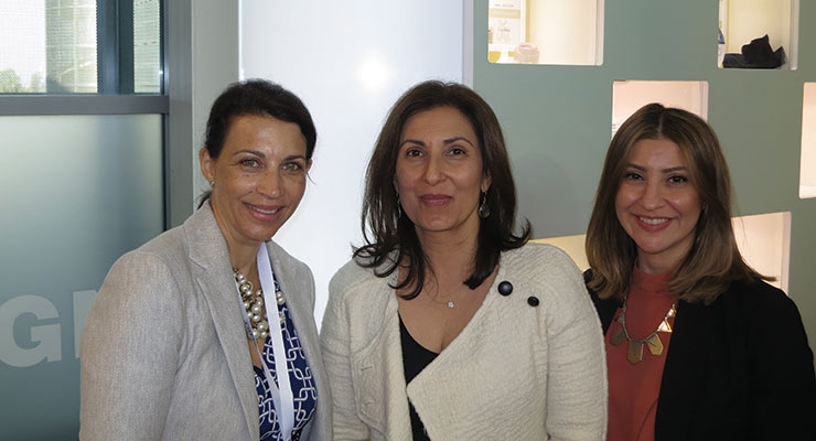 Cosmopack Review: Anisa International (L-R): Julie Scudder-Feldman, Anisa Telwar Kaicker, Tamar Garabedian