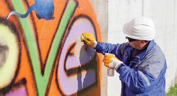 Silres BS 710 is Wacker's new solution for  long-lasting, anti-graffiti coatings.