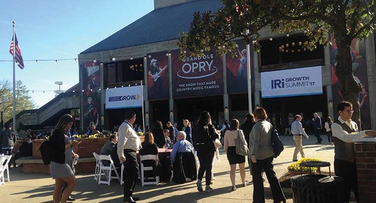 Attendees enjoyed breakfast outside the Grand Ole Opry where IRI conducted general sessions.