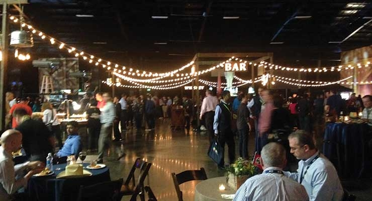 A country-themed party for 1400 guests made everyone feel at home in Music City.