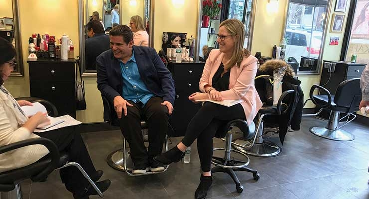 Canalé interviewed in NYC salon