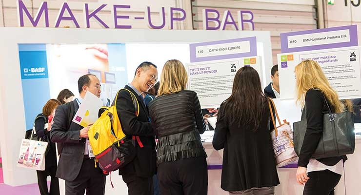 New & Improved: two new features to In-Cosmetics Global were the Makeup Bar...