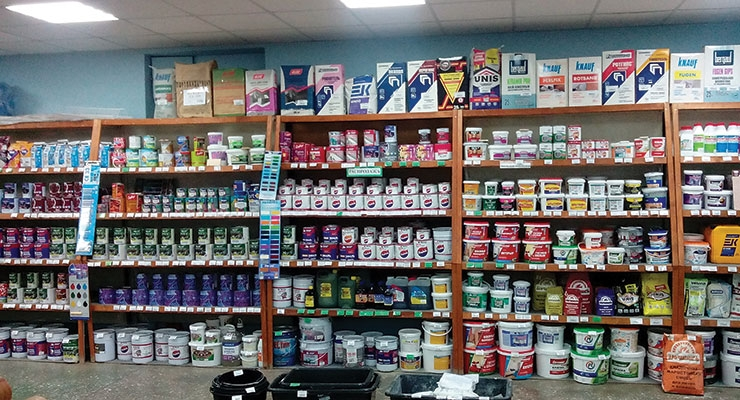 Russia has a huge range of paint and coatings.