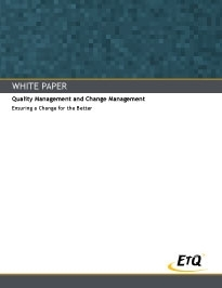 Quality Management and Change Management