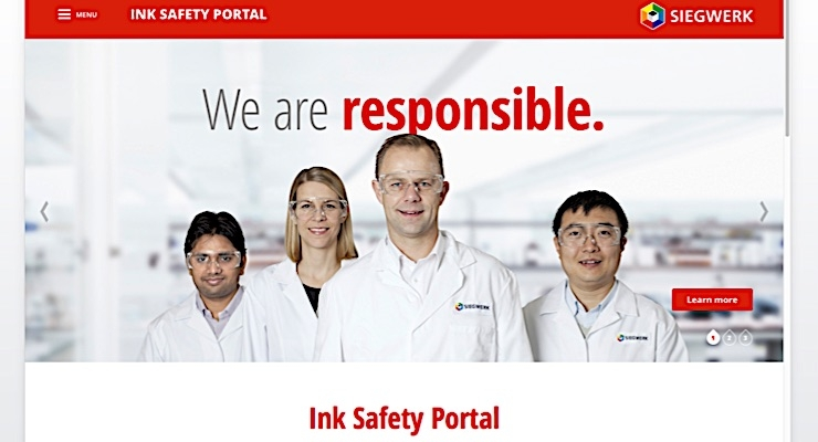 Siegwerk launches new Ink Safety Portal