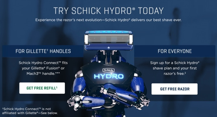 Schick Goes DTC and Rolls Out Refills Compatible with Gillette