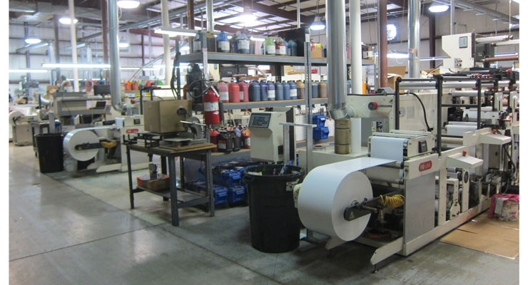 Nilpeter presses at MPI/Labeltek's Wadsworth, OH label  manufacturing facility.
