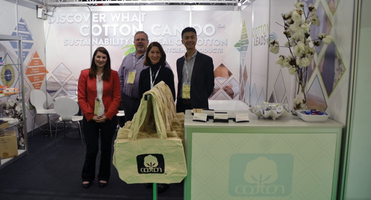 The team at Cotton Incorporated  presented data to the industry at INDEX.