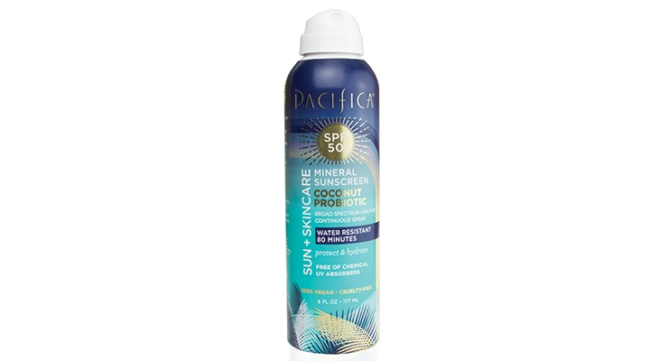 Pacifica Suncare Introduces 50 SPF Mineral Sun Protection Spray