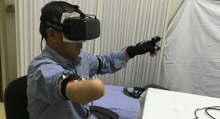 Image result for VR, Artificial Tactile Signals Allow Amputees