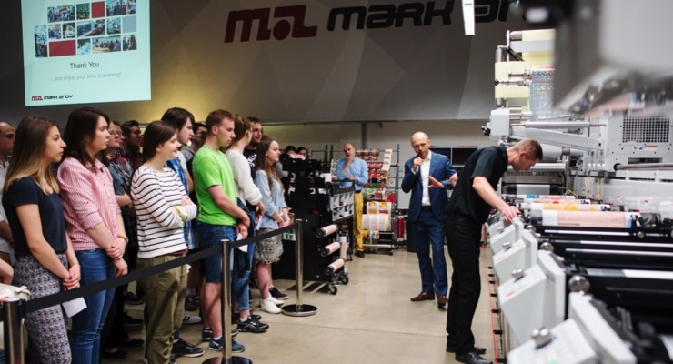 Polish graphic arts students learn from Mark Andy