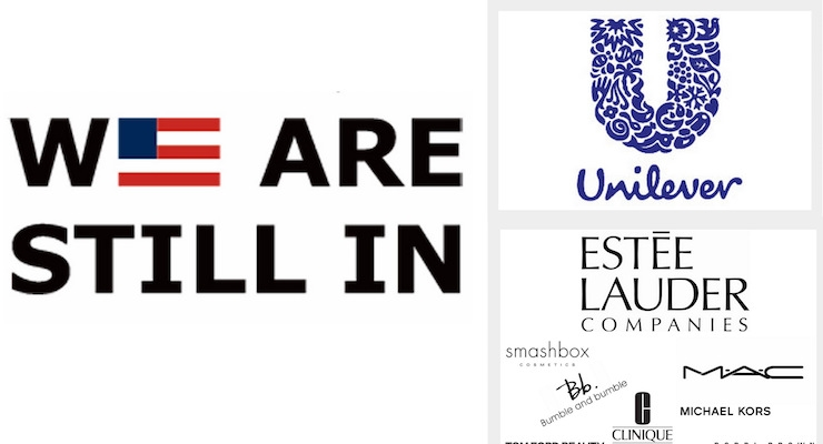 Estee Lauder & Unilever Sign 'We Are Still In' To Support the Paris Accord