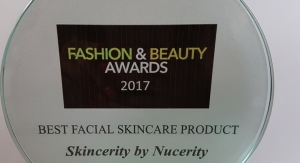 Skincerity Wins Best Facial Skincare Product