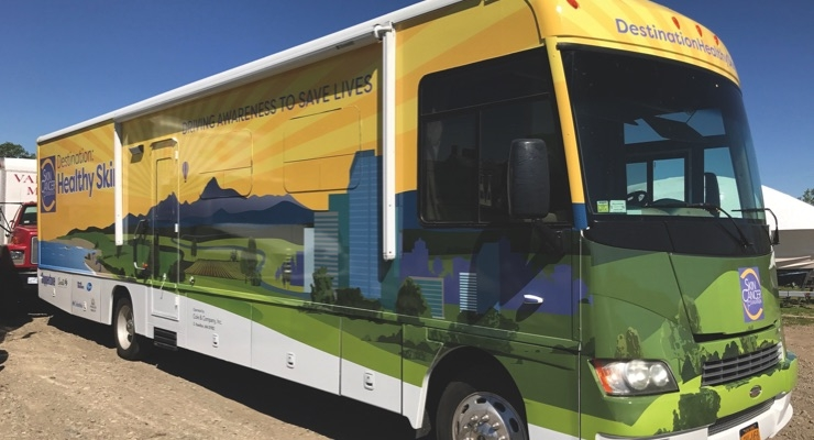 Coppertone has teamed up with the Skin Cancer Foundation on its skin tour to promote healthy skin practices and provide free skin cancer screenings while sampling Coppertone Whipped.