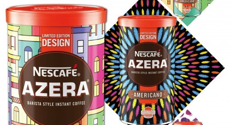 Nescafe Azera tins from Crown.