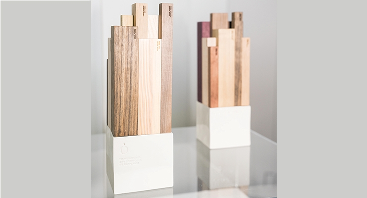 The Green Awards trophies, were made with sustainable wood, and produced in Pujolasos' Barcelona facility.