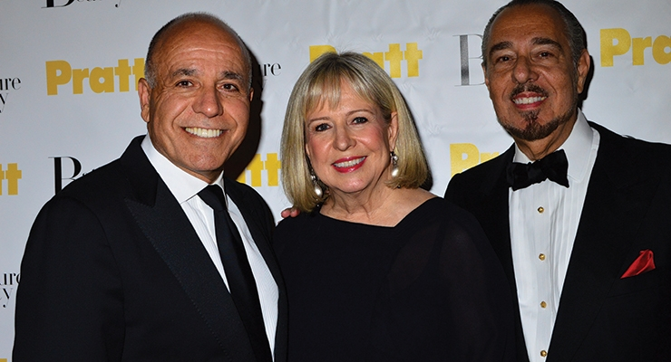 Honorees Sam Ghusson and Robin Burns McNeill with Marc Rosen