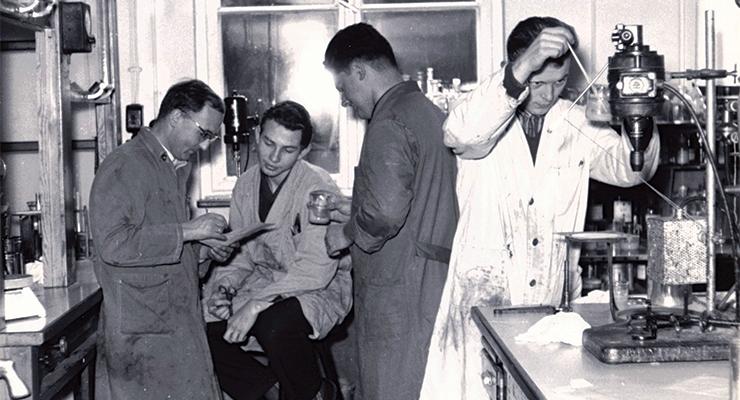 Ink laboratory, circa 1963.