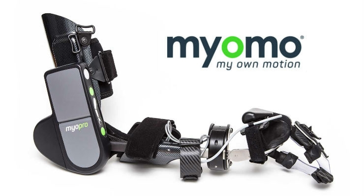 The MyoPro myoelectric arm orthosis. Image courtesy of Myomo.