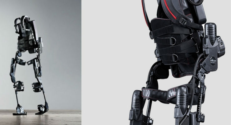 The Ekso GT robotic exoskeleton was cleared by the FDA for patients with stroke or spinal cord injury in April 2016. Image courtesy of Ekso Bionics.
