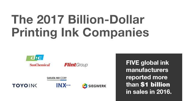 The 2017 Billion-Dollar Printing Ink Companies