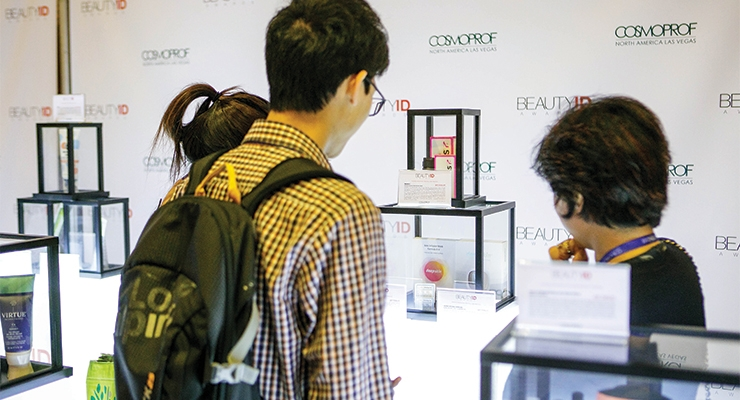 Glass cases throughout the Discover Pack area highlighted packages that had been entered in this year's new BeautyID Awards program, presented by Cosmoprof NA in cooperation with Beauty Packaging (see winners on page 84 in this issue).