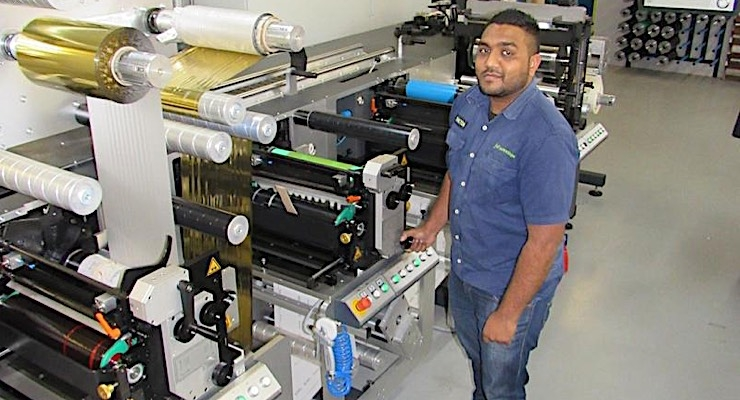 Shilton Pillay is one of three shift operators on the DT 440 digital finishing machine.