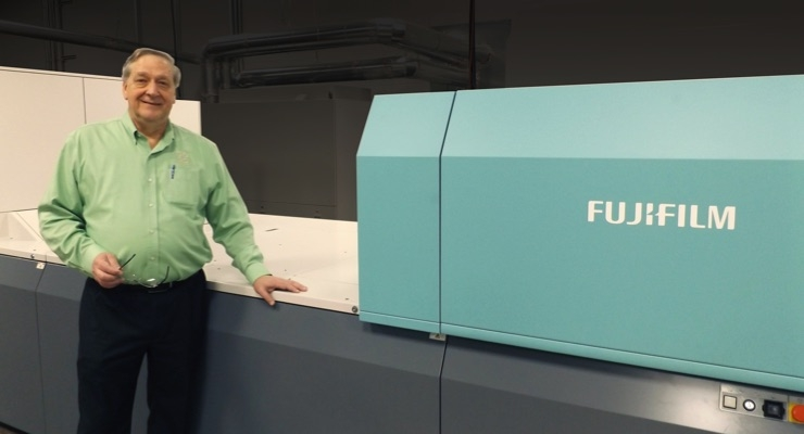 Raymond Ballew, VP of administration, Floor Productions, with the Fujifilm