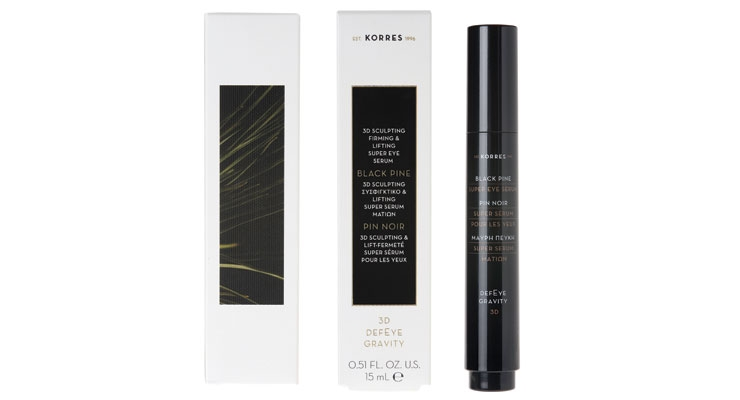 Black pine fuels the latest skin care serum from Korres.