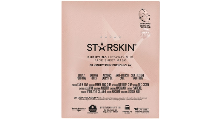 Starskin Silkmud Pink French Clay  Purifying Mud Sheet Mask
