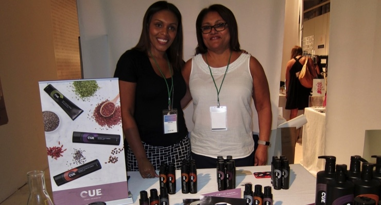 CUE Hair Care founders Mabel Covey (right) and Aimee Sowu.