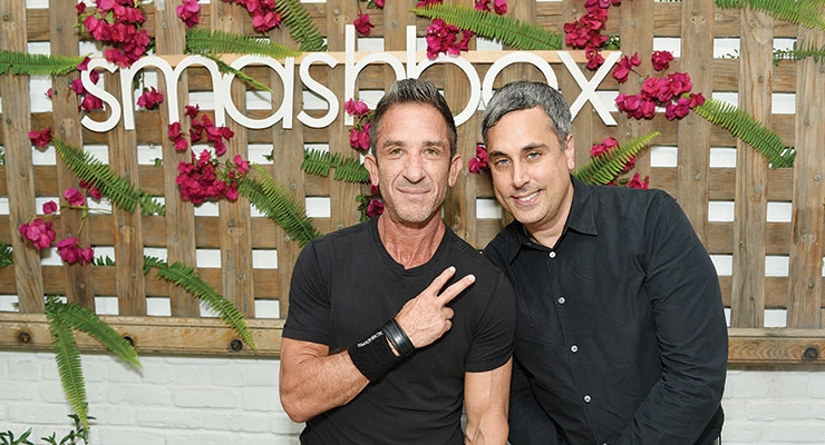Davis Factor and Bernard Zion attended the store  opening on July 13 in Venice, CA.  (Photo by Stefanie Keenan/Getty Images for Smashbox)