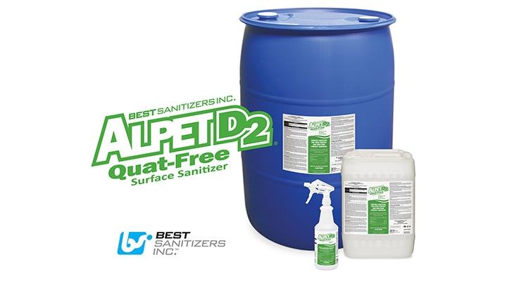 Best Sanitizers Introduces Alpet D2 Quat-Free Surface Sanitizer and Cleaner