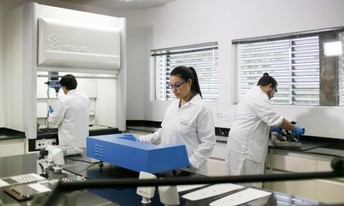 Technical service engineers test products and formulations for the South American market
