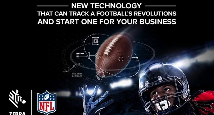 Zebra is partnering with the NFL and Wilson Sporting Goods. (Source - Zebra)