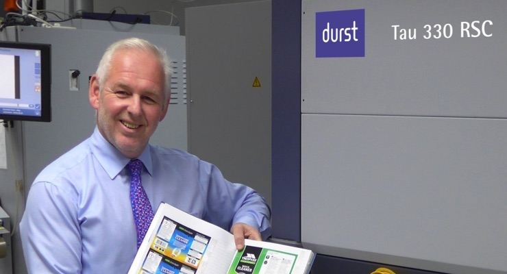 David Webster, Managing Director of The Label Makers in the UK.