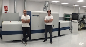 Domino N610i inkjet label press installed in Spain