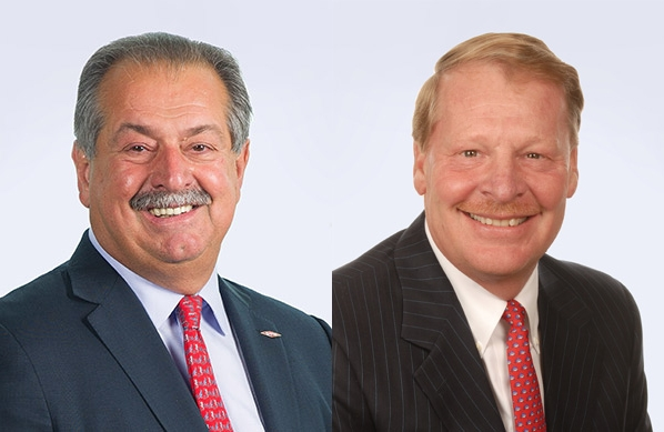 DowDuPont Executive Chairman Andrew Liveris and CEO Edward Breen