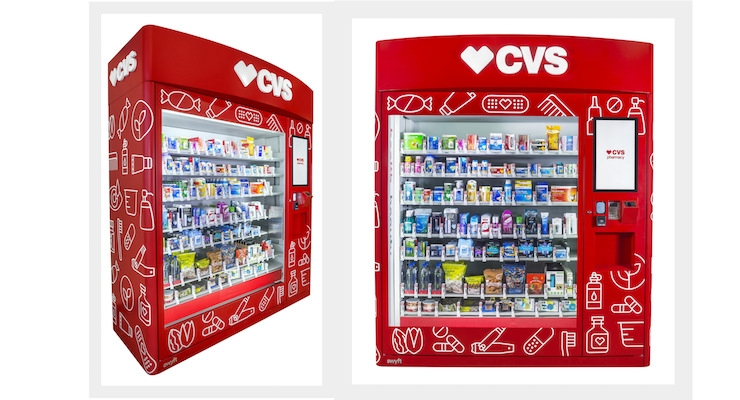 CVS Stocks Vending Machines with Personal Care Products